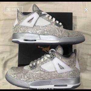 """Jordan Retro 4 GS """"Laser"""" Size 7Y"""